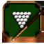 Billiards wooden icon