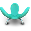Cyan Eared Seat icon