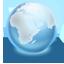 Earth blue Icon