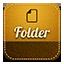 Folder retro icon