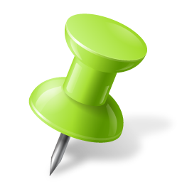 Map Marker Push Pin 1 Right Chartreuse