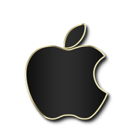Apple Black and Gold