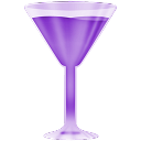 Wineglass purple-128