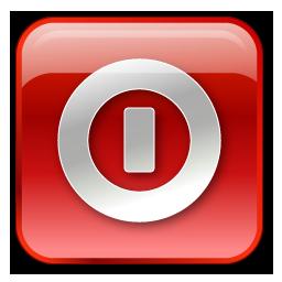 Shutdown box red