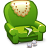 Armchair green icon