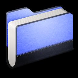Library Blue Folder