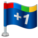 Google Plus One Flag