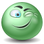 Wink emoticon icon