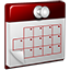 3D Calendar red icon