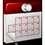 3D Calendar red Icon