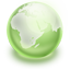 Earth green icon