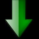 Fleche bas vert-128