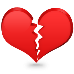 Broken Heart Icon Download Heart Shaped Icons Iconspedia
