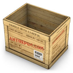 Wood Container Opened