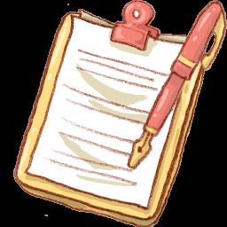 Notepad Yellow Pen