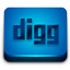 Blue Digg Icon