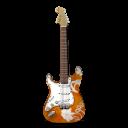 Stratocastor Guitar Flowers-128