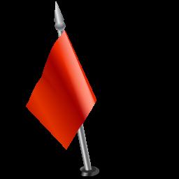 Flag left red