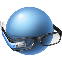 Googler Glasses Icon Download Google Glass Icons Iconspedia