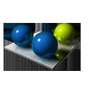 Blue Green Spheres-128