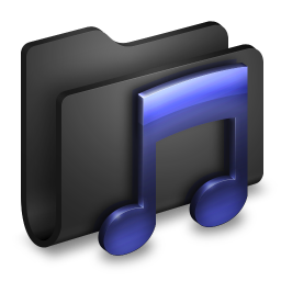 Music Black Folder