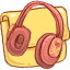 Folder Music Headphones Icon