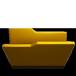Folder opened yellow