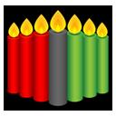 Kwanzaa candles-128