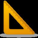 Triangle ruler-128