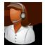 Tech Support Female Dark icon