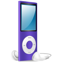 iPod Nano purple on