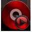 Cd Media black red Icon
