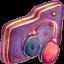 Music Violet Folder icon