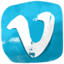 Vimeo hand drawned icon