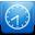 Clock blue-32