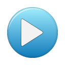 button blue play