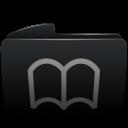 Folder black bookmarks-128