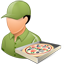 Pizzadeliveryman Male Light icon