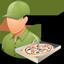 Pizzadeliveryman Male Light Icon