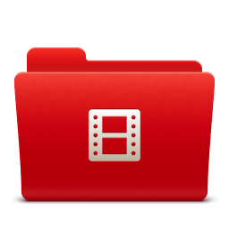 Video Folder Icon Download Soda Red Icons Iconspedia