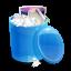 Blue recycle bin full-64