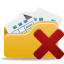 Open folder delete-128
