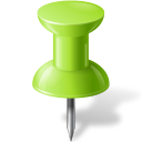 Map Marker Push Pin 1 Chartreuse-128