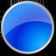 Circle blue icon
