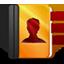 Addressbook orange icon