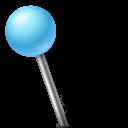 Map Marker Ball Left Azure-128
