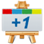Google Plus One Canavas icon