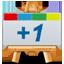 Google Plus One Canavas-64