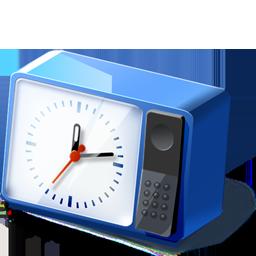 Blue Desk Clock