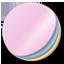 Stickers round icon